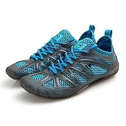 TooTa Sport Mesh Slip Women & Men Outdoor Holes Water Shoes ( 6.5 B(M) US Women / 5.5 B(M) US Men , Blue)