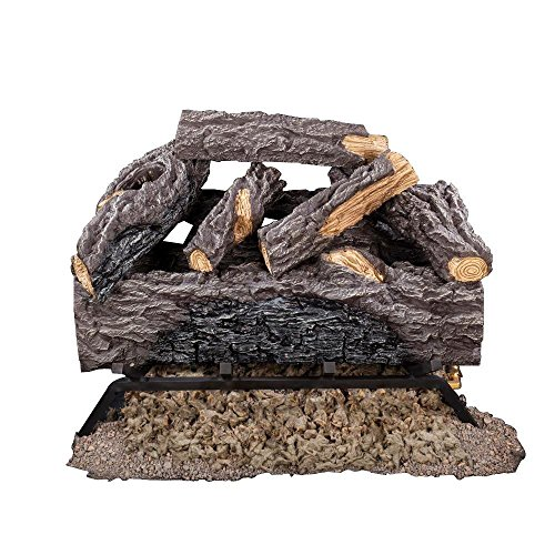 18 in. Charred River Oak Vented Natural Gas Log Set (Emberglow Vented Gas Logs compare prices)