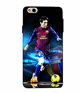 Case Cover Messi Printed Blue Soft Back Cover For InFocus Bingo 50 Plus