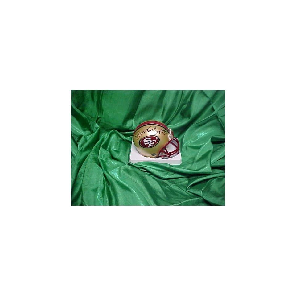 Joe Montana & Jerry Rice Hand Signed Autographed San Francisco 49ers Mini Hel