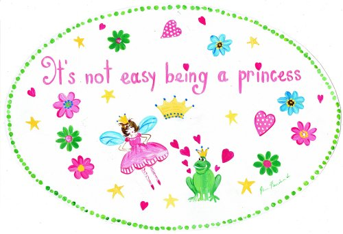 The Kids Room by Stupell It's Not Easy Being a Princess with Frog Prince Oval Wall Plaque