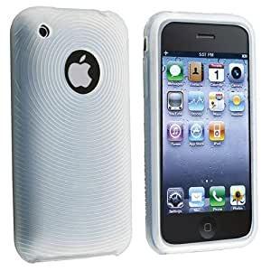 Clear White Textured Silicone Skin Case for Apple iPhone / iPhone 3G 8GB 16GB