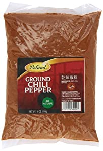 Roland Ground Red Chili Powder, 16-Ounce (Pack of 5)