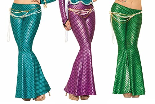 Mermaid Leggings Metallic Ariel Sea Fish Tail Adult Womens Costume Holographic