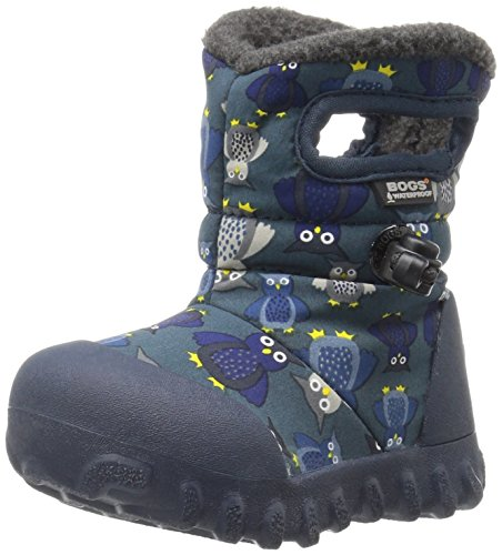 Bogs Baby B-MOC Puff Owl Winter Snow Boot (Toddler), Navy/Multi, 6 M US Toddler
