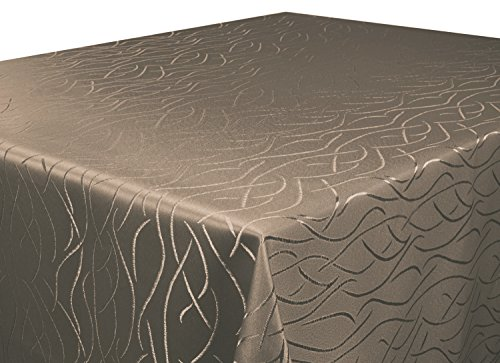 Tischdecke-dunkel-braun-110x110-cm-in-glanzvoller-Streifenoptik-eckig-Gre-Farbe-Form-whlbar-Rund-Eckig-Oval