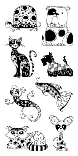 Inkadinkado Patterned Pets Clear Stamps