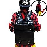 DUSTSTROKE (ダストストローク ) PU レザー スタッズ ( リュック / ななめがけ ショルダー バッグ / てさげ の 3 way ) 大容量 カバン 鞄 バックパック ワンショルダー リュックサック スクエア 型 デイ バッグ ストリート カジュアル ロック きれいめ メンズ レディース ユニセックス 黒 ブラック (スタッズ)