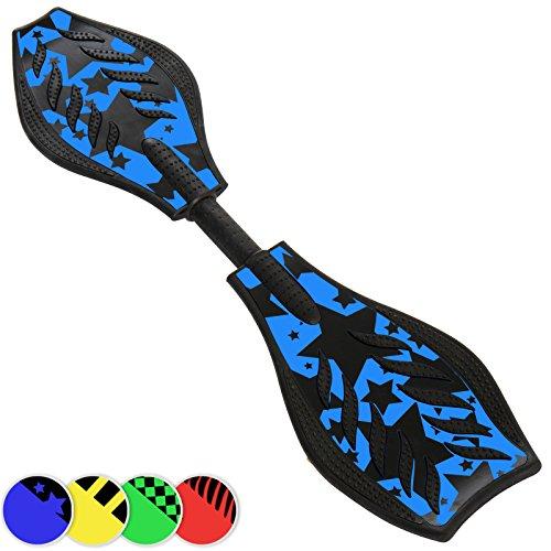 Physionics Waveboard skateboard a 2 ruote colore blu