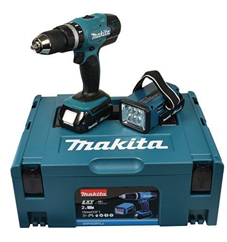 Makita DHP453RYLJ Trapano Avvitatore a Percussione, Batteria 18 V
