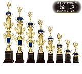 [レーザー彫刻名入れ] GOLD SHACHI 優勝トロフィー T8530 【ランナー】 Eサイズ