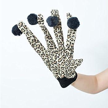 Haustier Katzen Spielhandschuh Handschuh Schäker Interaktives Spielzeug Leopard 32*9*2CM