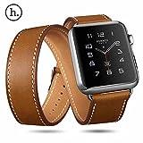 【1つで3役!3WAY交換バンド 】 HOCO Apple Watch 本革 3WAY 交換 バンド アート シリーズ PLATINUM 42mm 【 ブラウン 】