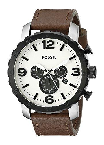 Fossil JR1390 - Reloj cronógrafo de cuarzo para hombre con correa de piel, color marrón