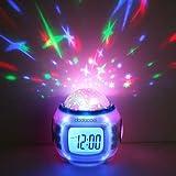 LightInTheBox® Novelty Nightlights Music Starry Star Sky Projection Alarm Clock Calendar Thermometer