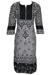 ADA Traditional Handmade Ethnic Chikankari Party Wear Casual Cotton Kurti A118413