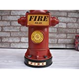 Kangsanli Vintage Style Resin Craft Saver Fire Hydrant Shaped Coin Money Box Saving Money Piggy Bank Home Decor Student Gifts (red) (Color: Red)