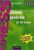 echange, troc Richard Mauduit, Eric Wenner - Chimie générale en 30 fiches