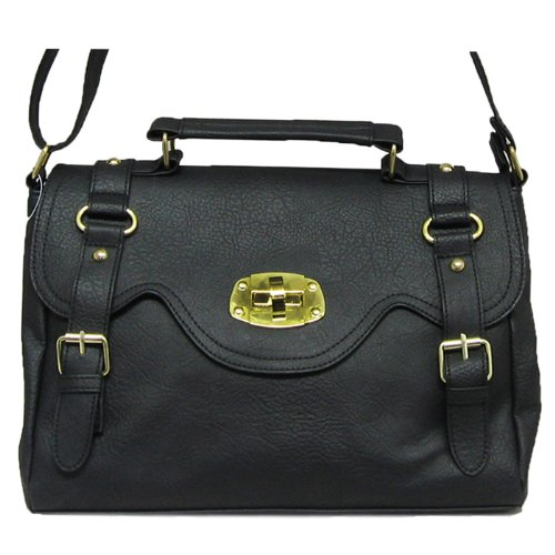 Across Body / Shoulder Fashion Satchel Bag Black