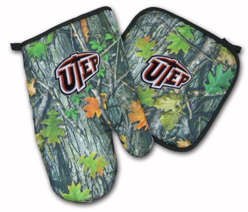 Utep Miners Real Camo Mitt Potholder Set Utep Ncaa Tailgating Or Barbecue Realistic Camo College