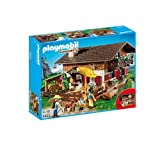 PLAYMOBIL Country - Mountain Life - Alpine Lodge - 5422 -This family has headed for the mountains for a long summer holiday! The Playmobil Alpine Lodge - 5422 set includes a 2-storey lodge with fireplace, lounge and bar (5422)