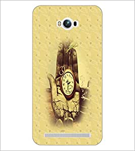 PrintDhaba Antique Watch D-4693 Back Case Cover for ASUS ZENFONE MAX ZC550KL (Multi-Coloured)