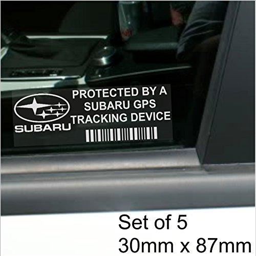 5-x-subaru-gps-tracking-device-security-window-stickers-87x30mm-impreza-carvan-alarm-tracker