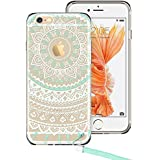iPhone 6s Case, iPhone 6s Case Clear, iPhone 6s Case Mint Henna, ESR Totem Series Hybrid Case [One Piece] TPU Bumper +Hard PC Back Cover Protective Case for 4.7 inches iPhone 6s/6(Mint Mandala)