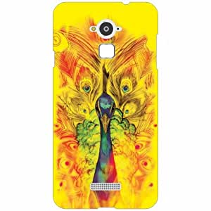 Coolpad Note 3 Back Cover - Silicon Peacock feather Designer Cases