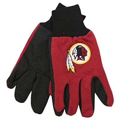 NFL Team Logo Grip Gloves - Washington Redskins