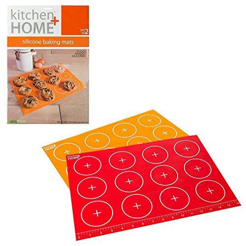 Silicone Baking Mat Sheet - Non-stick Silicone (Set of 2) - Contains NO BPA
