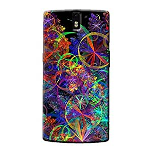 COLORFUL PATTERN BACK COVER FOR ONE PLUS ONE