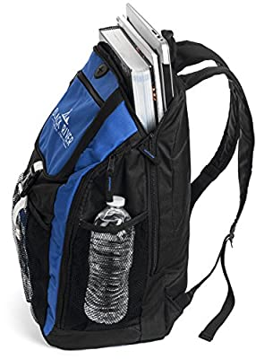Lightweight and Sturdy Backpack for School and College - Perfect for Camping and Hiking Day Trips - Padded and Adjustable Straps and Padded Back - Fits 17in Laptop and more - Insulated Side Pockets