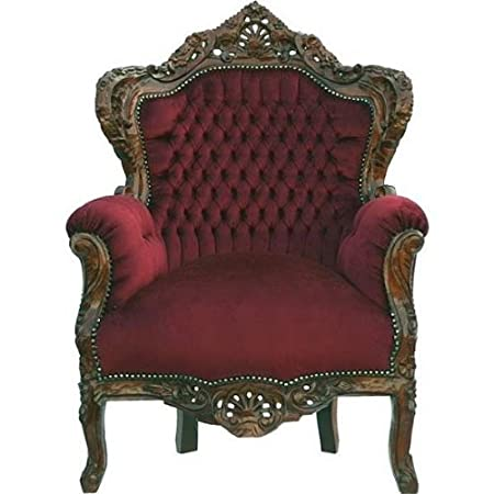 Baroque Armchair 'King' Bordeaux / Brown