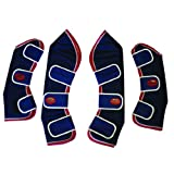 Weatherbeeta Set of 4 Travel Boots -NAVY/RED/WHITE COB SIZE