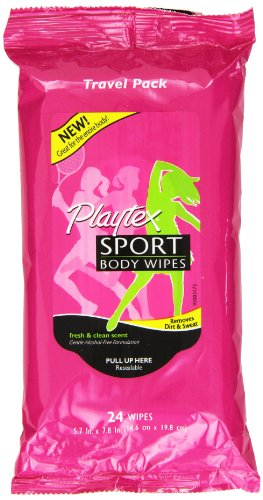 Playtex Sport Playtex Sport Body Wipes Travel Pack, 24 Count, Pack Of 5 front-1036810
