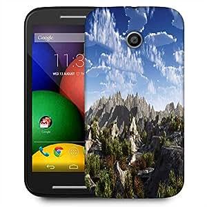 Snoogg Mountains From Top Designer Protective Phone Back Case Cover For Motorola E2 / MOTO E22