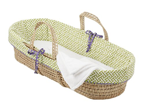 Cotton Tale Designs Moses Basket, Periwinkle/Boy