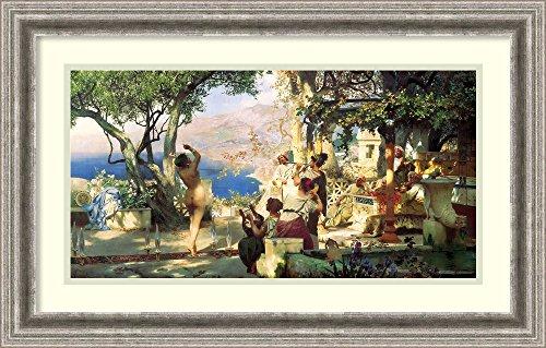 Framed Art Print 'Dancing Scene, 1881' by Henryk Siemiradzki