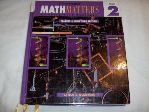 South-Western Math Matters Book 2 Teacher's Edition