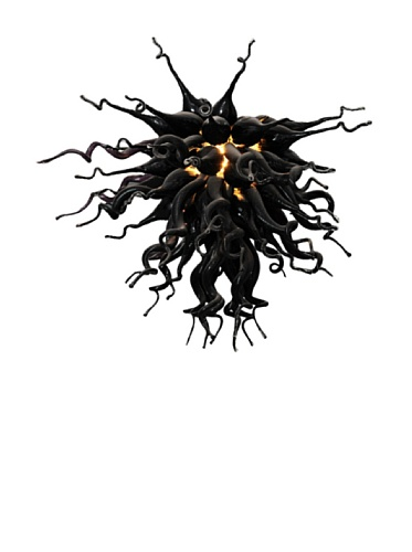 D'fine Lighting Obsidian 3-Light Mini LED Chandelier, Obsidian
