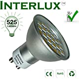 5W Dimmable Warm White GU10 LED Bulb. The brightest 5W LED downlight currently available and brighter than many higher wattage LED bulbs.
