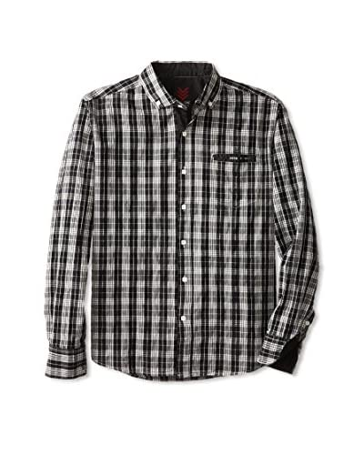 ONE90ONE Men's Bickford Single Pocket Plaid Shirt