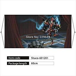 Anime family Long Size Wall Scroll Banner! Shaco-the Demon Jester, Hero of Game League Of Legends/LOL, Anime Poster Hanging on Wall for Decor