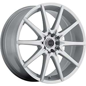 Focal F-04 18 Silver Wheel / Rim 5×100 & 5×4.5 with a 42mm Offset and a 73 Hub Bore. Partnumber 428-8818S+42