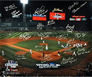 Boston Red Sox 2013 World Series Champs Team Autographed Photograph #3 13 with 20...
