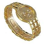 2014 New Fashion Women Dress Watches Geneva Watch, Rose Gold Full Steel Casual Analog Quartz Ladi...