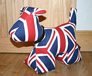Wish Original Large Dog Doorstop With Branded Dustbag Union Jack Kitchen Home