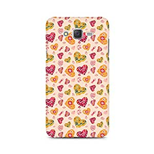 Ebby Cute Pink Hearts Premium Printed Case For Samsung J7 2016 Version