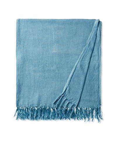 Aviva Stanoff Linen Throw, Turquoise